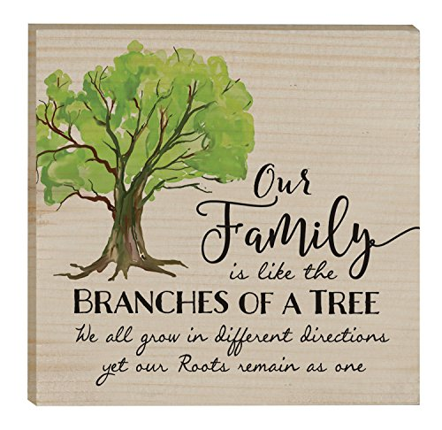 Our Family Branches of a Tree Roots Remain One 3 x 3 Inch Solid Pine Wood Rustic Magnet