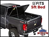 Gator Evo Hard Bi-Fold (fits) 2005-2019 Nissan Frontier 5 FT Bed w/Utili Track ONLY Bi Folding Tonneau Truck Bed Cover (GC55011) Made in The USA