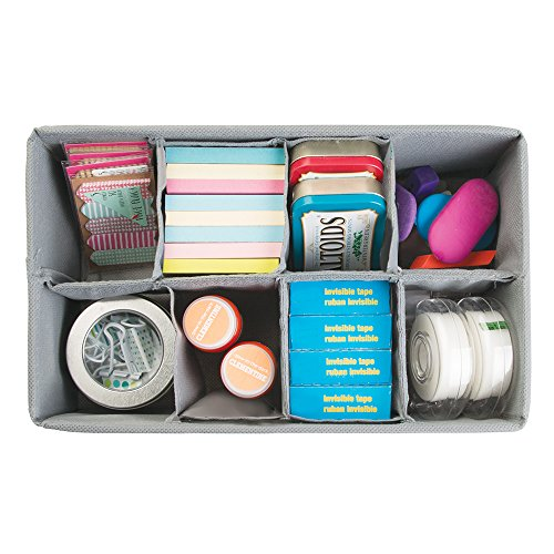 Mdesign fabric desk drawer storage organizer for office for Construction organizer notebook