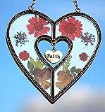 Faith Heart Sun Catchers Stained Glass Sun Catchers