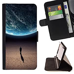 Super Marley Shop - Leather Foilo Wallet Cover Case with Magnetic Closure FOR Apple iPhone 6 6S Plus 5.5- Moon man