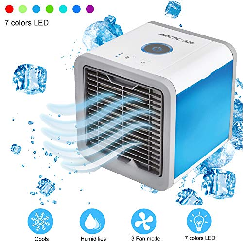 Gomech Personal Air Cooler, Portable Mini Fan Humidifier, 3-in-1 Air Conditioner Fan Humidifier Air Purifier, Perfect for Office Dorm Nightstand