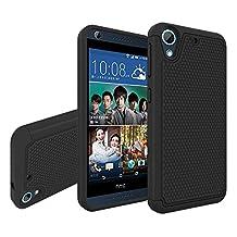 HTC Desire 626 Case, HTC Desire 626s Case, NOKEA [Shockproof] Hybrid Dual Layer Armor Defender Protective Case Cover for HTC Desire 626 / 626s (Black)