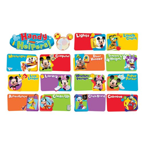 Eureka Classroom Bulletin Board Set, Mickey Mouse Clubhouse Handy Helpers Job Chart Mini Bulletin