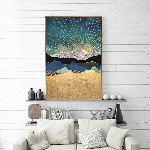 Framed Home Artwork Nordic Style Abstract Color for Living Room Bedroom