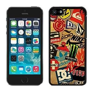 Unique Classic Skateboard Logos iPhone 5c Generation Black Case
