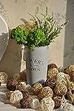 Biowow 12Pcs Handmade Wicker Rattan Balls Decorative Spheres Vase Filler Ornament Decoration ,Wedding Christmas Party Garden Hanging Decoration