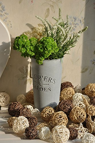Biowow 12Pcs Handmade Wicker Rattan Balls Decorative Spheres Vase Filler Ornament Decoration ,Wedding Christmas Party Garden Hanging Decoration ()