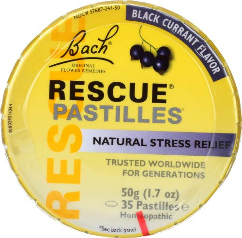 Bach Rescue Pastille Black Currant 50 GM (Pack of 12)