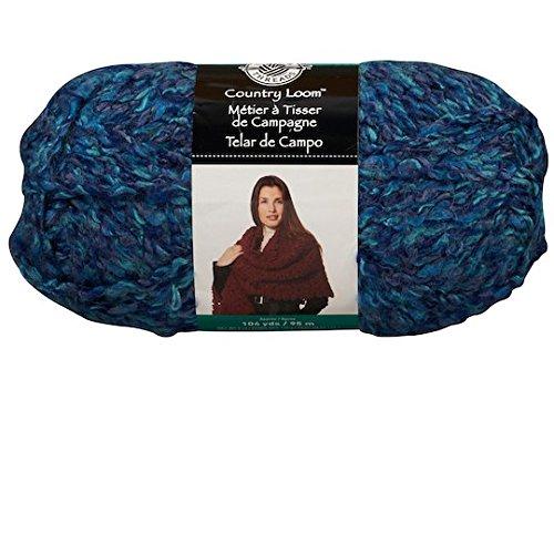 O-wool Classic Yarn (COUNTRY LOOM Yarn, 5 oz 104 Yds by Loops & Threads multicolor blue)