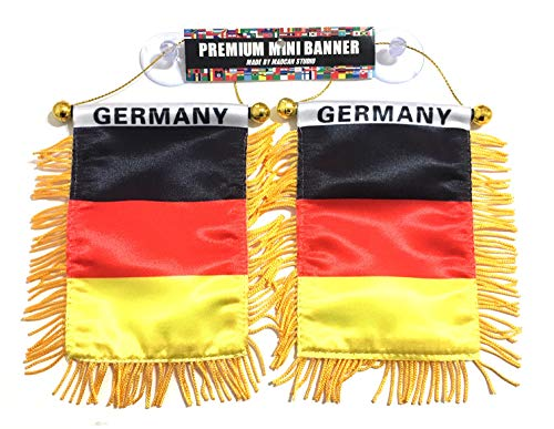 (Germany German car Flag for Automobile and Home Design DE Deutschland Europe Flag)