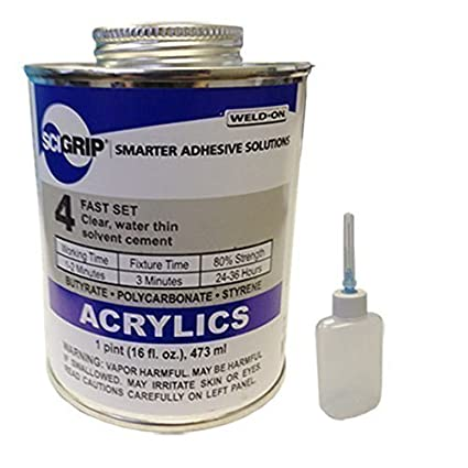 Amazon.com: Weld-On 4 Adhesivo acrílico – Pinta y Weld-On ...