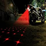 WONFAST Auto Motorcycle LED Fog Light Rear Anti-Collision Taillight Driving Safety Warning Signal Lamp Bulb Auto Brake Auto Parking Car Warning Light (Star)