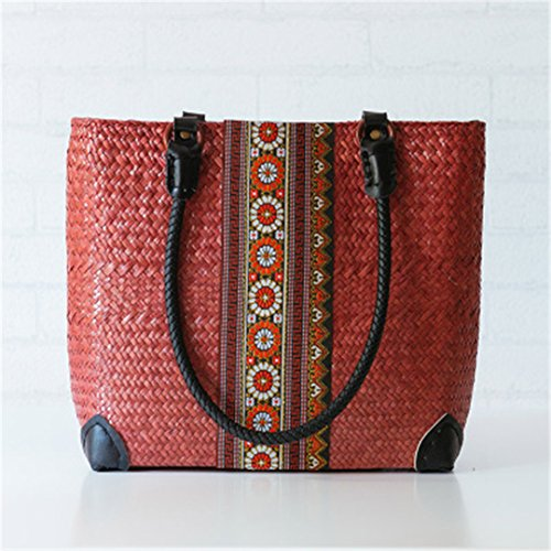Thai Version Of Bread Rattan Rattan Bag National Style Straw Bag European And American Travel Bag Shoulder As02huang Beach As02qianghong