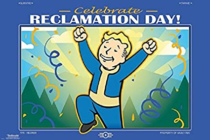 Fallout 76 - Reclamation Day Video Gaming Poster, Size 24x36