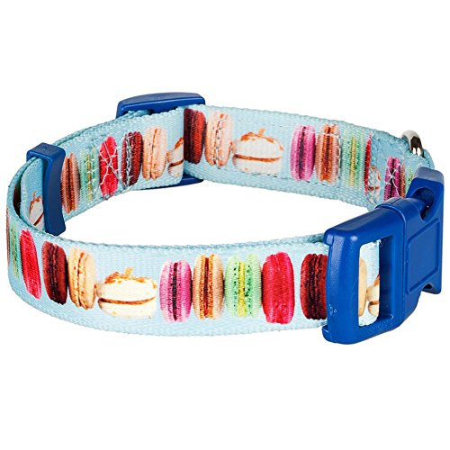 (Blueberry Pet 8 Patterns Party Ideas The Ultimate Macaroon Cake With Spring Pastel Hues Basic Dog Collar, X-Small, Neck 7.5