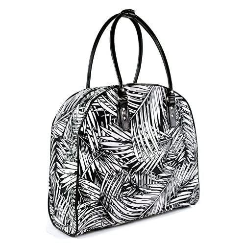 Tropical Palm Leaf Print Travel Duffel Handbag Overnight Carry On Weekender