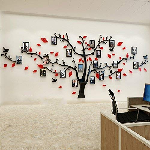 Family Tree Wall Art Picture Frame.Unitendo 3d Wall Stickers Photo Frames Familytree Wall Decal Easy To Install Apply Diy Photo Gallery Frame Decor Sticker Home Art Decor Red Black