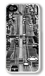 California Streets Custom iPhone 4S Case Back Cover, Snap-on Shell Case Polycarbonate PC Plastic Hard Case Transparent