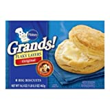 Pillsbury Grands Original Flaky Layer Biscuit, 16.3 Ounce - 12 per case.