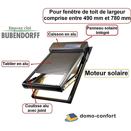 Bubendorff - Kit Volet Roulant Solaire Pr Velux Ou Roto De 490 À