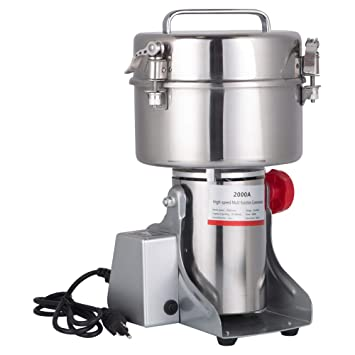 Amazon.com: DaTOOL 1000g Commercial Electric Grain Grinder New LED Didital Display Stainless Steel Electric Mill Ultra-fine Powder Grinding Machine 32000 ...