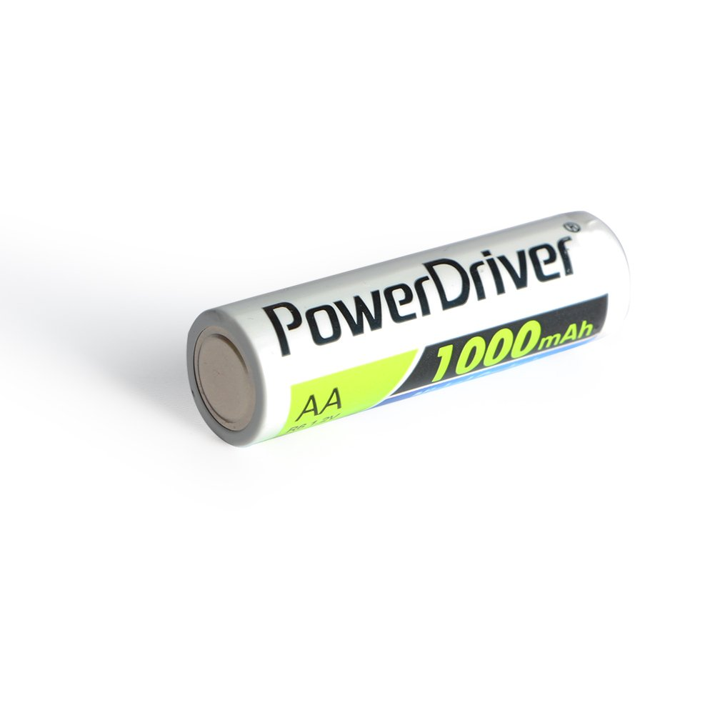 PowerDriver 1000mAh Aa Rechargeable NiCD Ni-CD Batteries for Toys Flashlights Solar Lamp Lights Radio Beatuy Equipment (16)