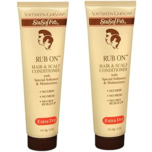 Softsheen Carson Sta- Sof-Fro Rub-On Hair & Scalp Conditioner - Tube 5 oz. (Pack of 2)