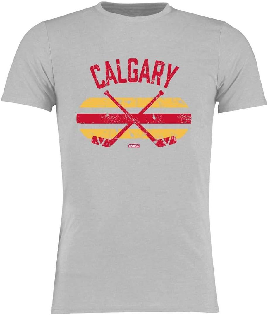 BRAYCE/® Calgary T-Shirt I Eishockey Shirt Gr/ö/ße S 3XL I Hockey Style f/ür Eishockeyspieler und Fans