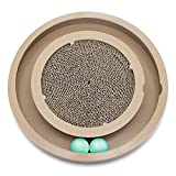 Catify Natural Wood Scratch and Spin Cat and Kitten Tunnel and Track Toy - With 2 Balls by Best Pet...