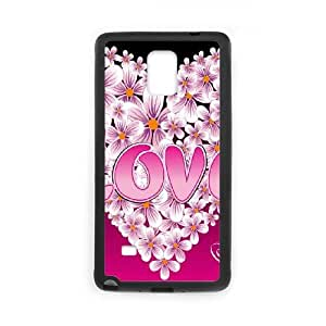 Love Pink Samsung Galaxy Note 4 Cell Phone Case Black MUS9221336