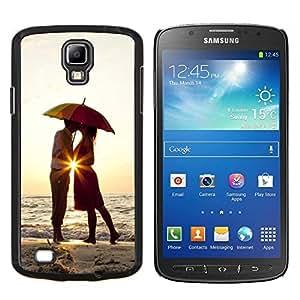 Stuss Case / Funda Carcasa protectora - Puesta de sol Paraguas amantes del corazón del amor del beso - Samsung Galaxy S4 Active i9295