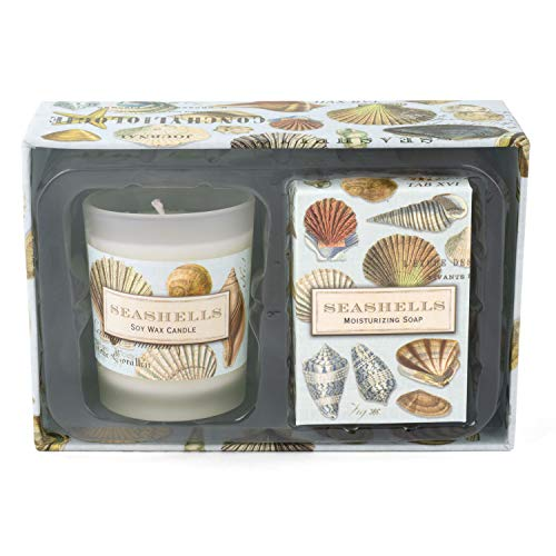 (Michel Design Works Candle and Soap Gift Set, Seashells)