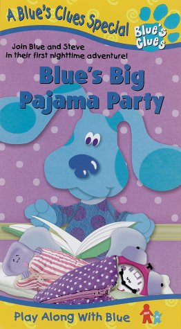 Amazon Com Blue S Clues Blue S Big Pajama Party Vhs Steve