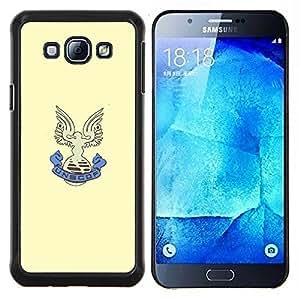 UNSCOF- Metal de aluminio y de plástico duro Caja del teléfono - Negro - Samsung Galaxy A8 / SM-A800