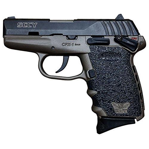 Traction Grip Overlays in Black for SCCY CPX-2 Pistols (Black Two Pistol)