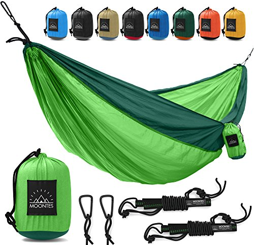 Dark Green Pool Tablecloth (Camping Hammock Double Parachute Portable Travel Large Tree Camp Hammock with Hammock Straps for Backpacking Best Quality Lightweight Two Person Hammock Camping Men Women Green)