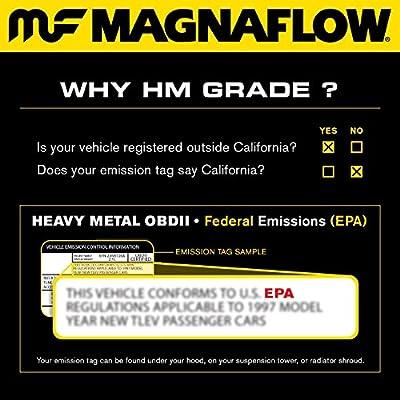 MagnaFlow 99006HM Universal Catalytic Converter (Non CARB Compliant): Automotive