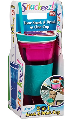 Snackeez Drink And Snack Holder 16 Oz Assorted Colors ()