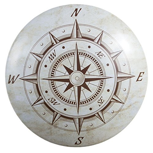 Nautical Compass Dome Sign Tin Sign 12 x 12in ()