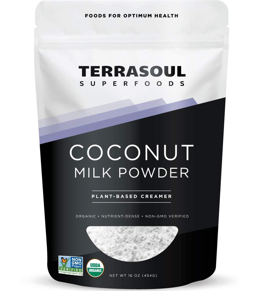 Terrasoul Superfoods Organic Coconut Milk Powder, 16 Oz - Plant-Based Creamer | Keto Friendly