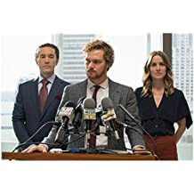 Finn Jones 8inch x 10inch PHOTOGRAPH Iron Fist (TV Series 2017 - ) at Podium of Mics w/Tom Pelphrey & Jessica Stroup kn