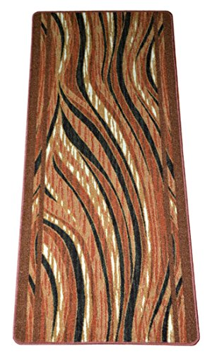 Washable Non-Skid Carpet Rug Runner - Jazzy Terra Cotta (5')