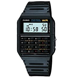 Casio Classic DataBank Calculator Watch, with Alarm, and Digital Stopwatch, Features a Auto Calendar, and Eight-Digit Calculator Constants for Addition, Subtraction, Multiplication and Division, Lightweight and Water Resistant