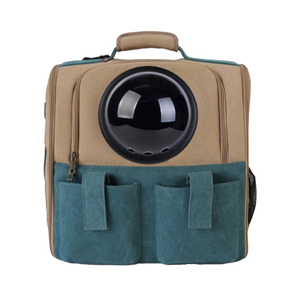B DH® Pet Backpack, Travel Portable Cat Dog Bubble Carrier Breathable Capsule Astronaut Waterproof Canvas (color   B)