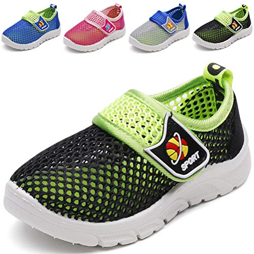 DADAWEN Baby's Boy's Girl's Breathable Mesh Running Sneakers Sandals Water Shoe Black US Size 8 M ()