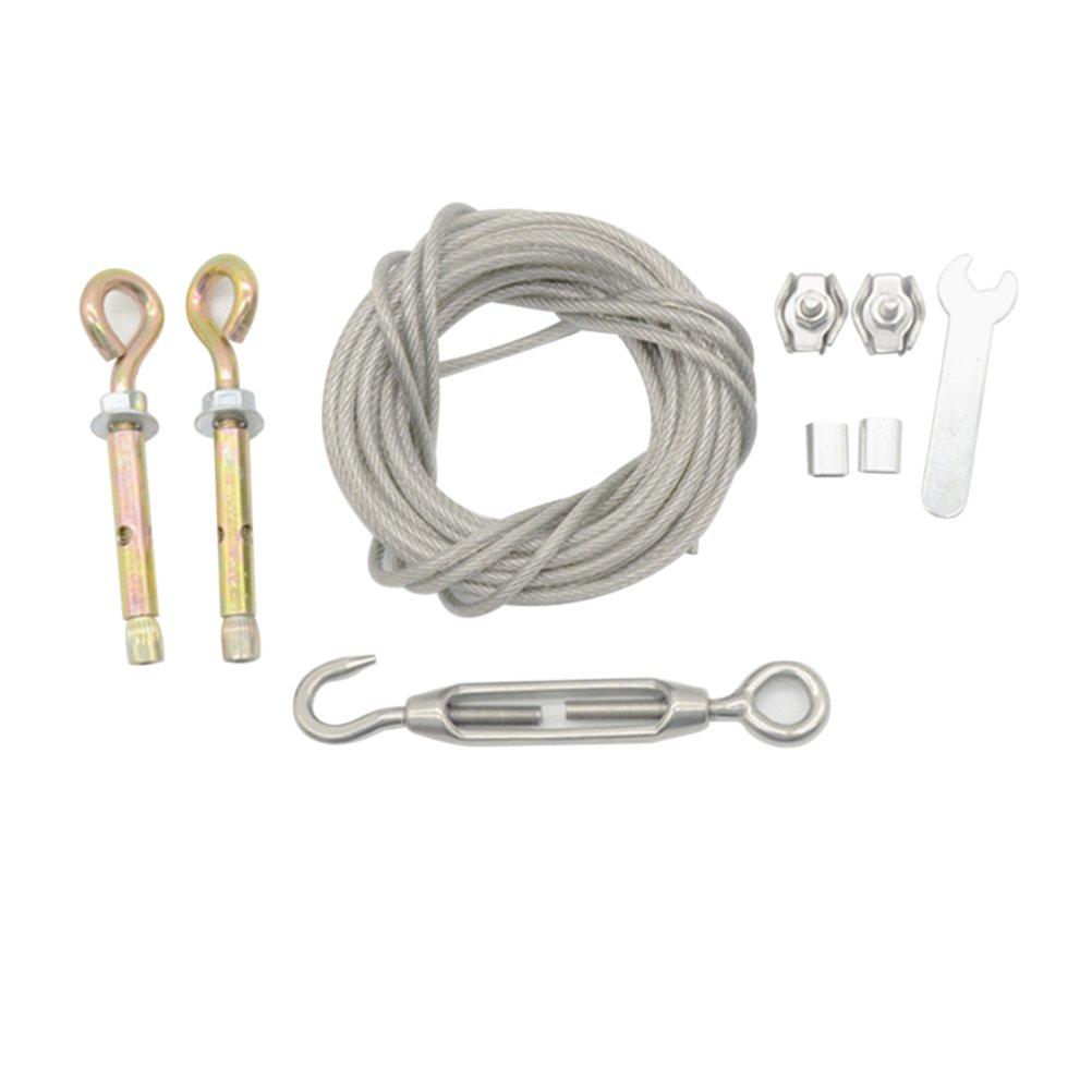 Bestomz Vêtements Corde Ligne avec câble en acier inoxydable Heavy Duty Corde pour extérieur/intérieur/Home/voyage/Séchage 5m