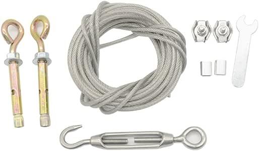 bestomz Acero Cuerda Ropa de lino con tensor para exterior interior 5/m