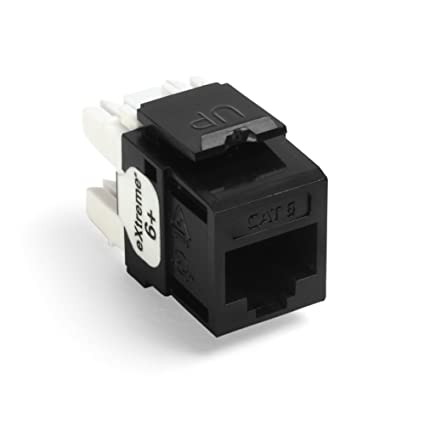 Leviton 61110-RE6 eXtreme 6+ QuickPort Connector, CAT 6, Black on