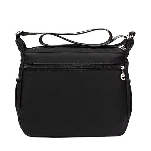 9975bc1a85d7 Amazon.com: Rakkiss Women Waterproof Crossbody Bag Nylon Shoulder ...